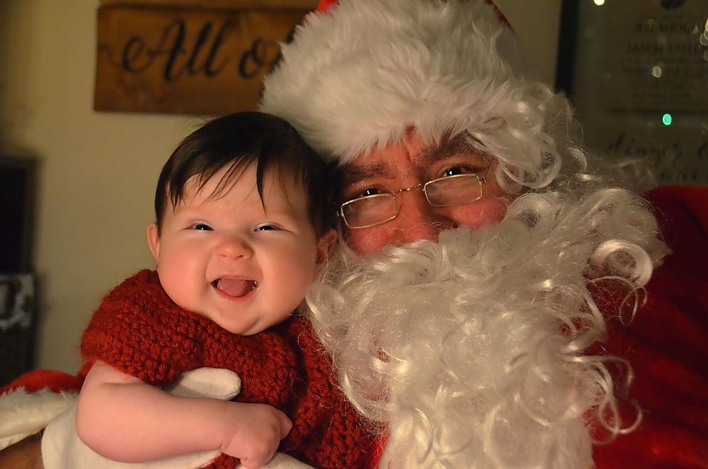 Photo in Portrait #christmas #santa #santa claus #baby's 1st #tis the season #winter #merry christmas #happy holidays #baby #girl #photo #smiling #precious #infant #child #baby girl #santa claus #xmas #holidays #peterborough #ontario #canada #1st christmas #daddy #dress up #guess who #smile #beautiful