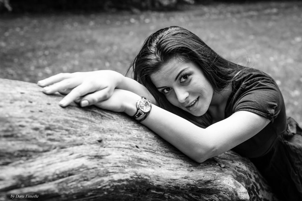Photo in Portrait #pige #girl #skodsborg #smile #kobenhavn #copenhagen #black and white