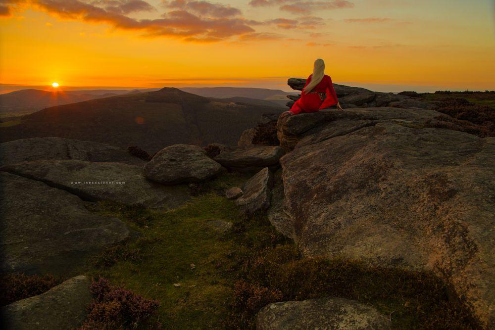 Photo in Landscape #england #peak district #autumn #national park #sunset
