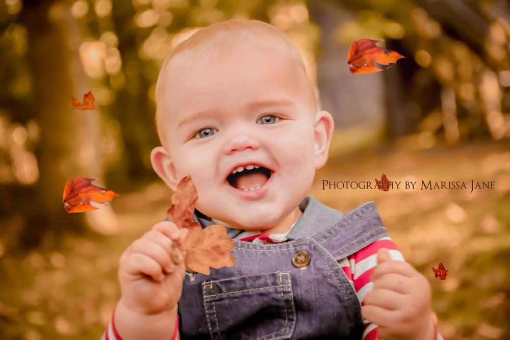 Photo in Portrait #people #child #autumn #fall #nature #leaves #smile #happy #teeth #eyes #portrait #outdoor