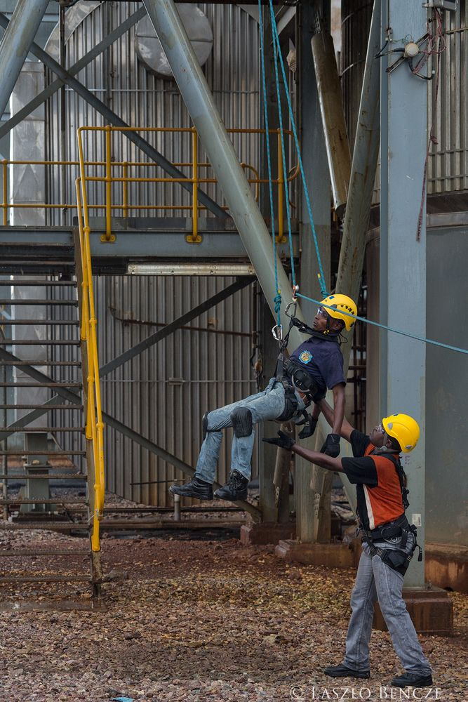 Photo in Industrial #mine #copper mine #safety #safety exercise
