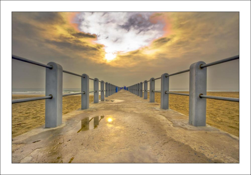 Photo in Sea and Sand #pier #sea #sand