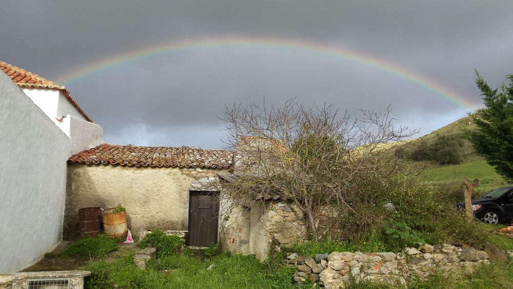Photo in Landscape #arco-iris #rainbow #rain #quintas #campo