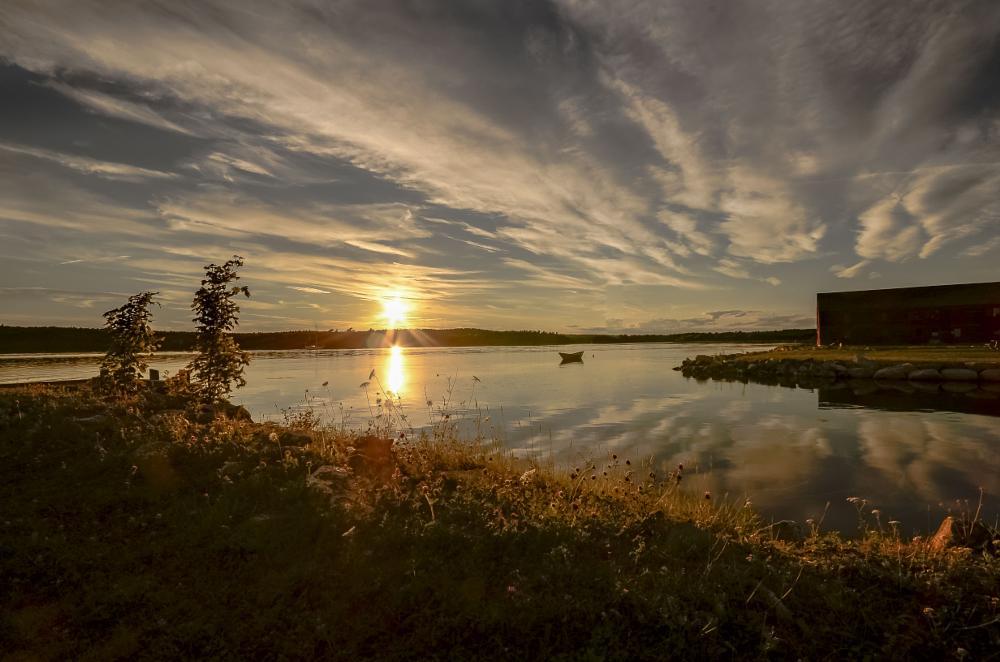 Photo in Landscape #golden #sea #seascape #landscape #water #sunset #clouds #golden hour