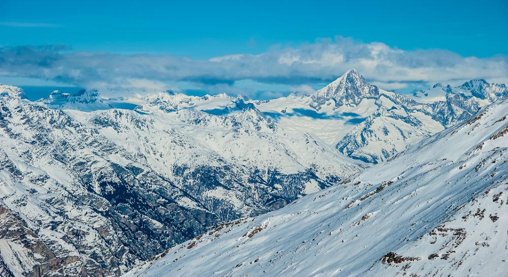 Photo in HDRI #switzerland #d3 #hdr #europe #winter #alps #matterhorn