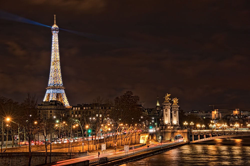 Photo in HDRI #hdr #d3 #paris #france #europe #eiffel tower #tourist attraction #winter