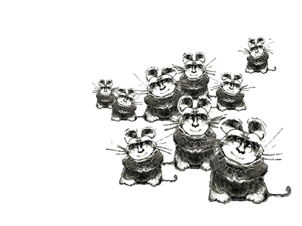 Photo in Random #(original #artwork #cm #gleeson) #curious #mice