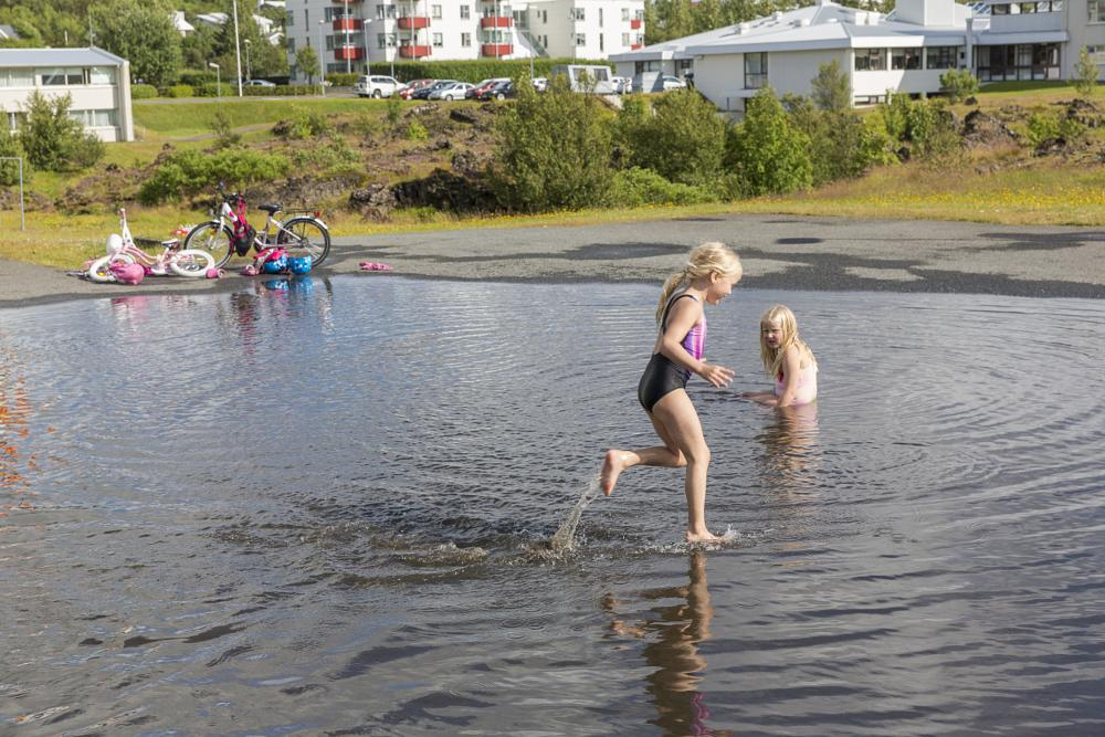 Photo in Street Photography #iceland #streetphotography #girls #summer #pond
