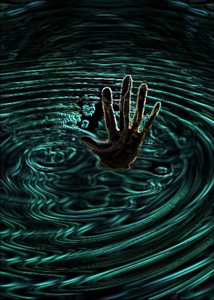 Photo in Random #(original #artwork #cm #gleeson) #drowning