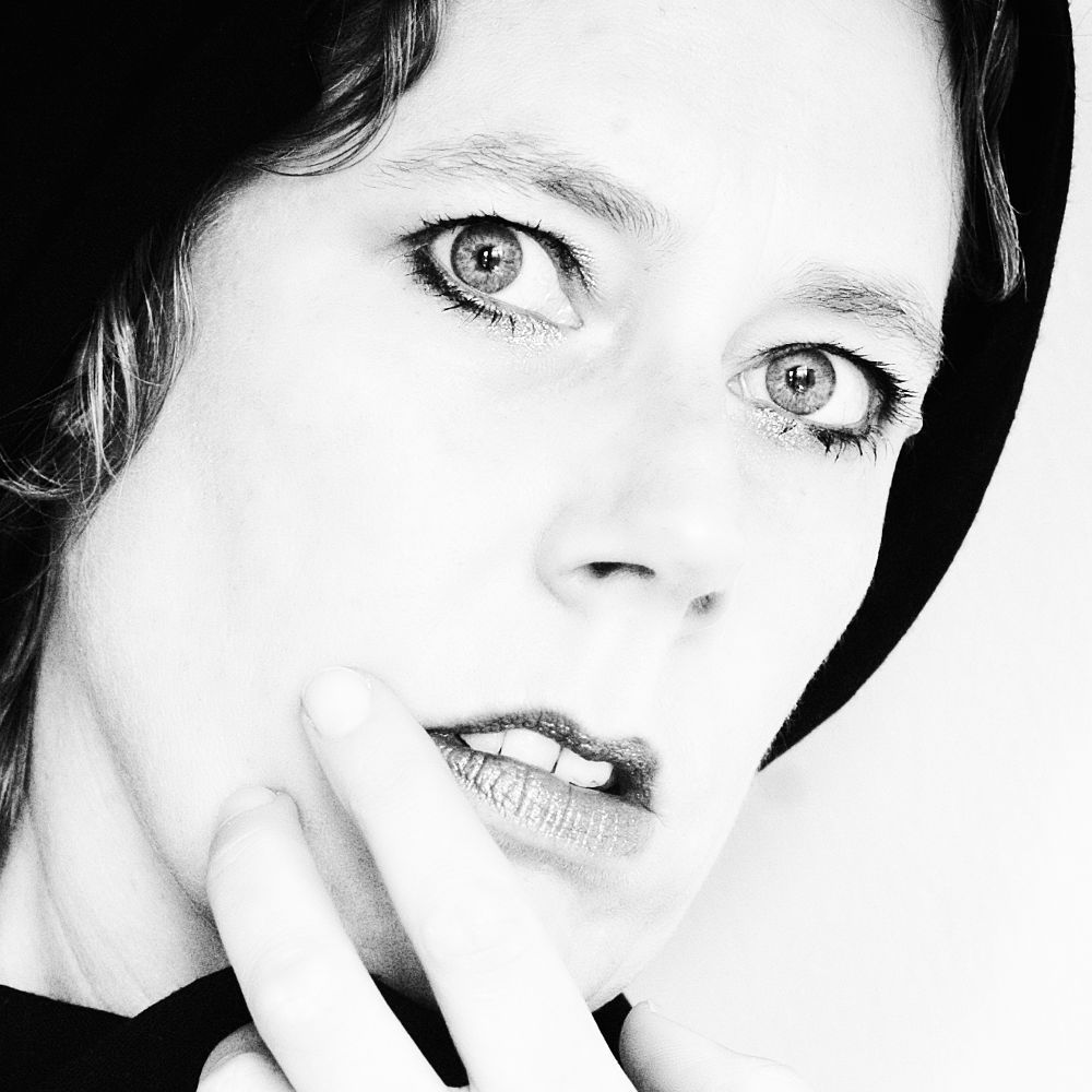 Photo in Black and White #self portrait #female #moods #feelings #eyes #thoughts #monochrome