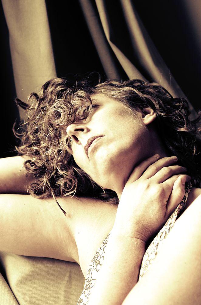 Photo in People #self portraiture #female #moods #introversion #monochrome