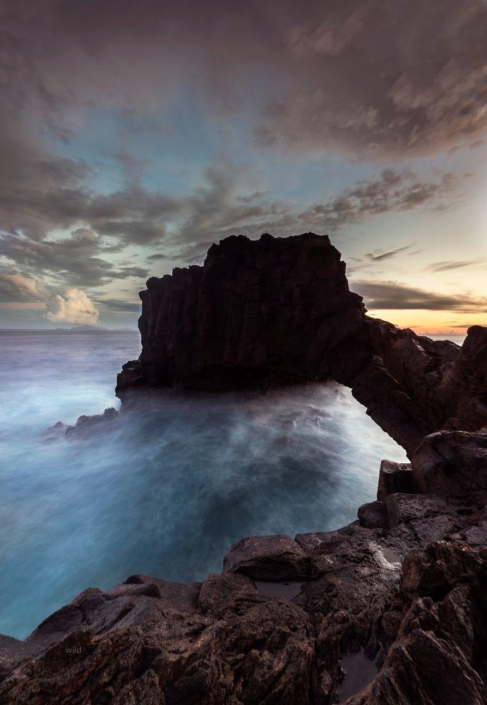 Photo in Landscape #landscape #rocks #sky #sunset #sea #places #nature