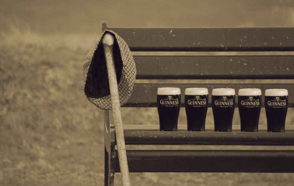 Photo in Product #product #guinness #pint #outdoors #nature #style #sepia