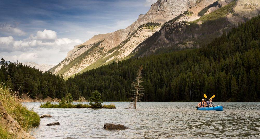 Photo in Landscape #kayak #mountain #water #lake