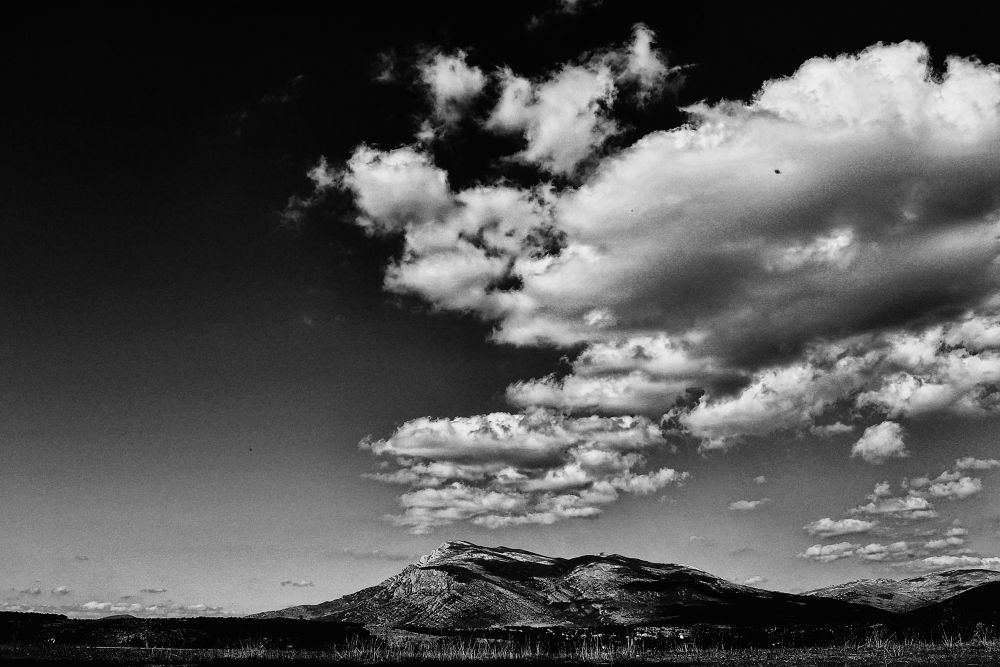 Photo in Landscape #bw #clouds #dinara #croatia #art