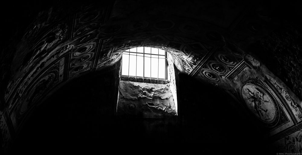 Photo in Travel #pompeii #travel #italy #indoors #architecture #ancient #black and white