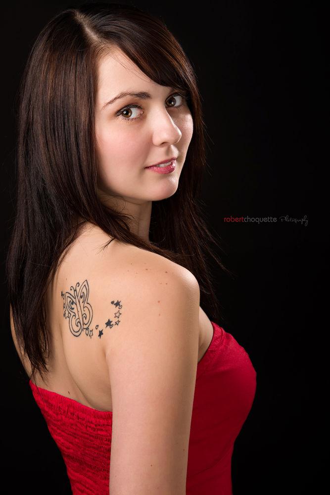 Photo in Portrait #andreanne #d800e #studio #red #dress