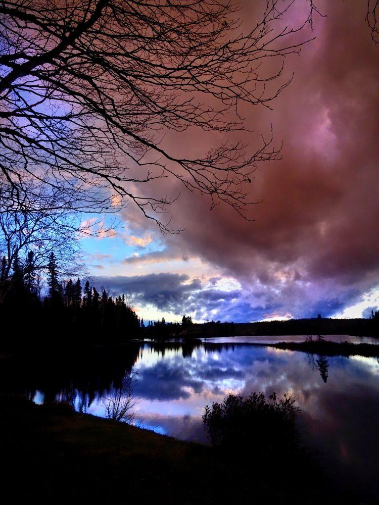 Photo in Landscape #coucher de soleil #nature #couleurs #paysage #lac #arbres #crépuscule #québec