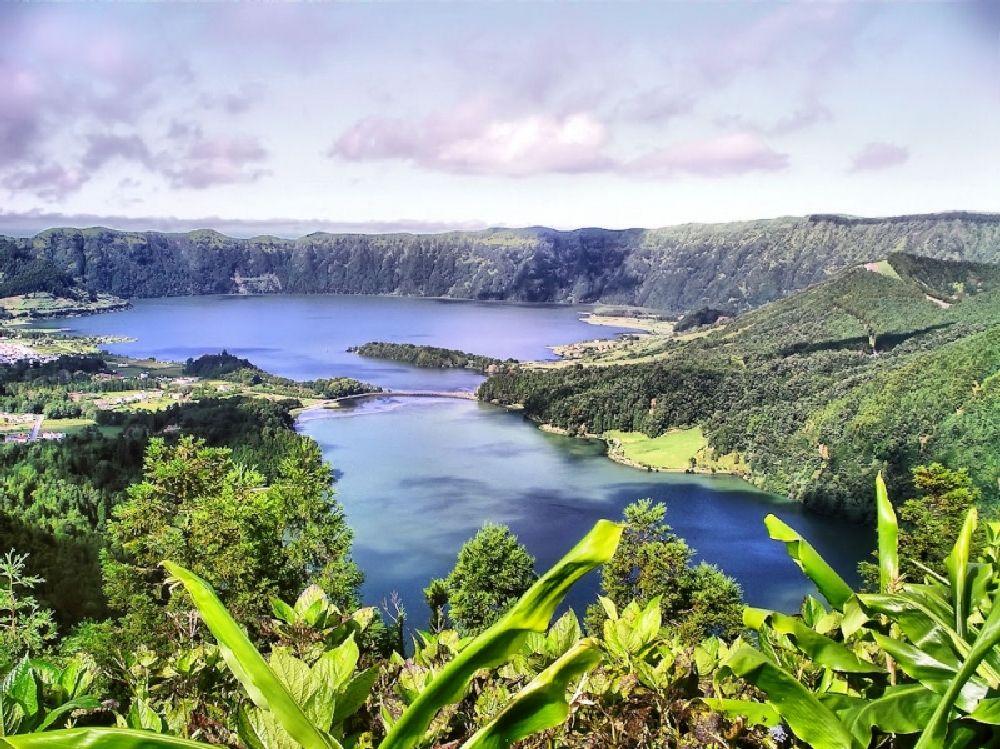 Photo in Landscape #azores #island #lagoon #portugal