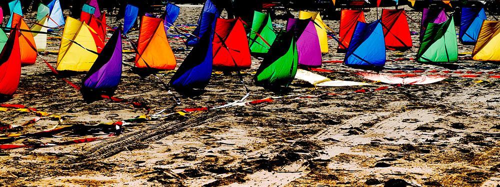 Photo in Sea and Sand #wind #sand #sea #kites #nikon #d5100
