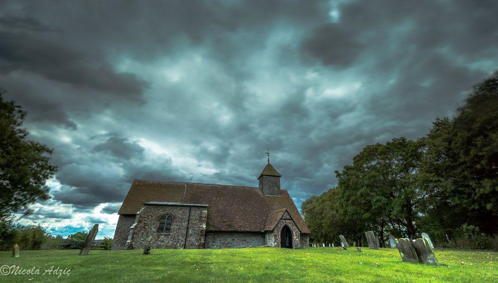 Photo in Landscape #church #landscape #sky