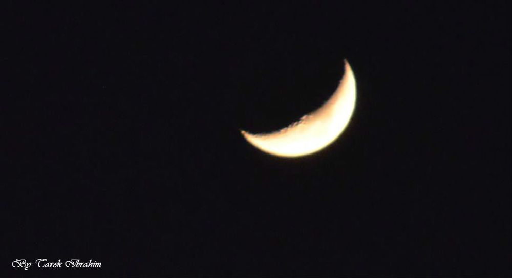 Photo in Nature #moon #half moon #helal #zoom #sky #natural