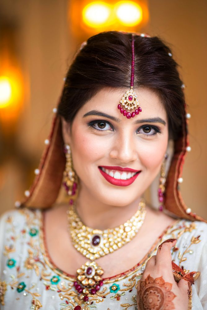 Photo in Wedding #girl #bride #portait #photography #eyes #bright #face #makeup #glamour #smile
