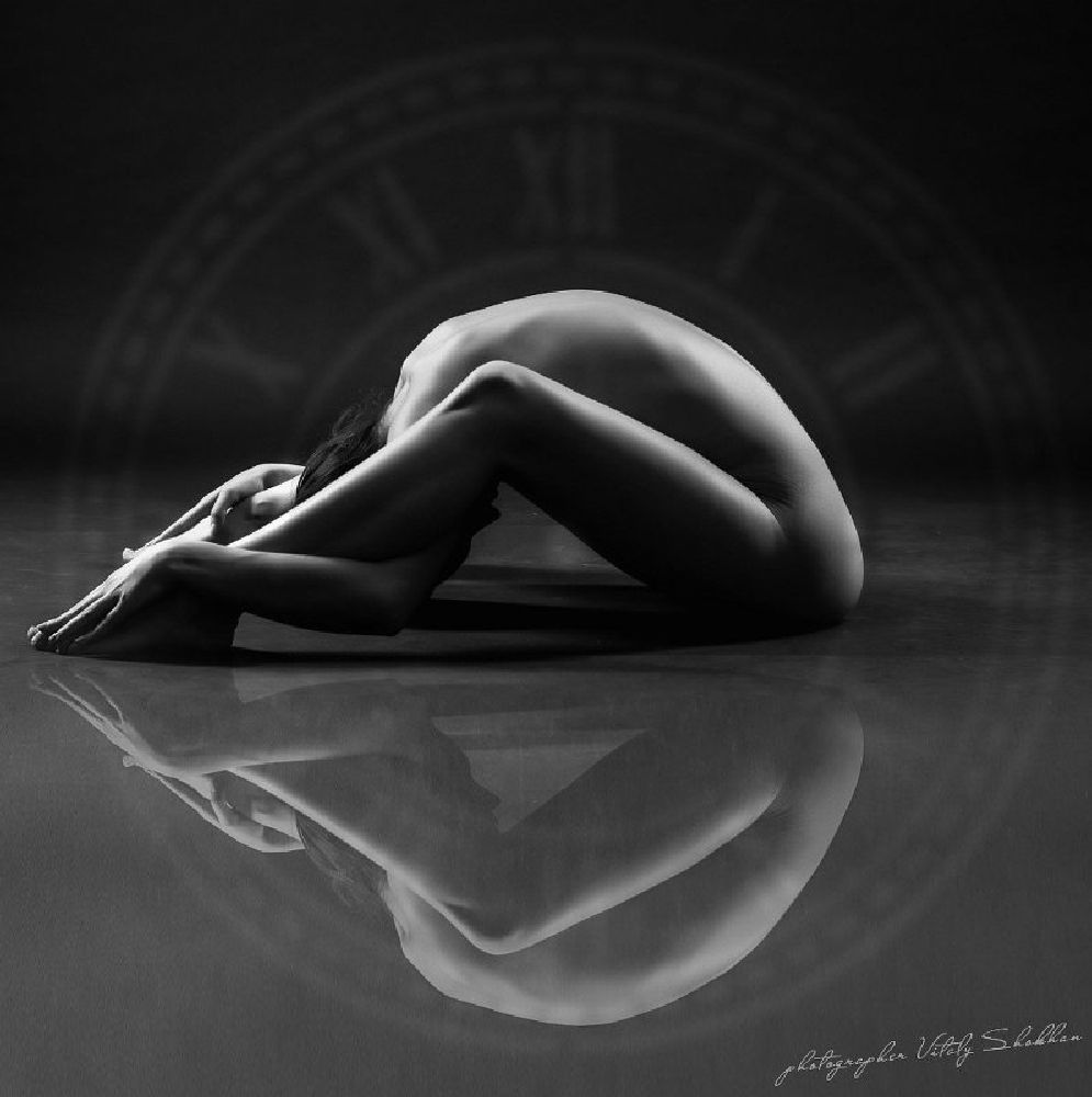 Photo in Black and White #girl #flexible #nude #naked #b/w #black and white #model #beauty