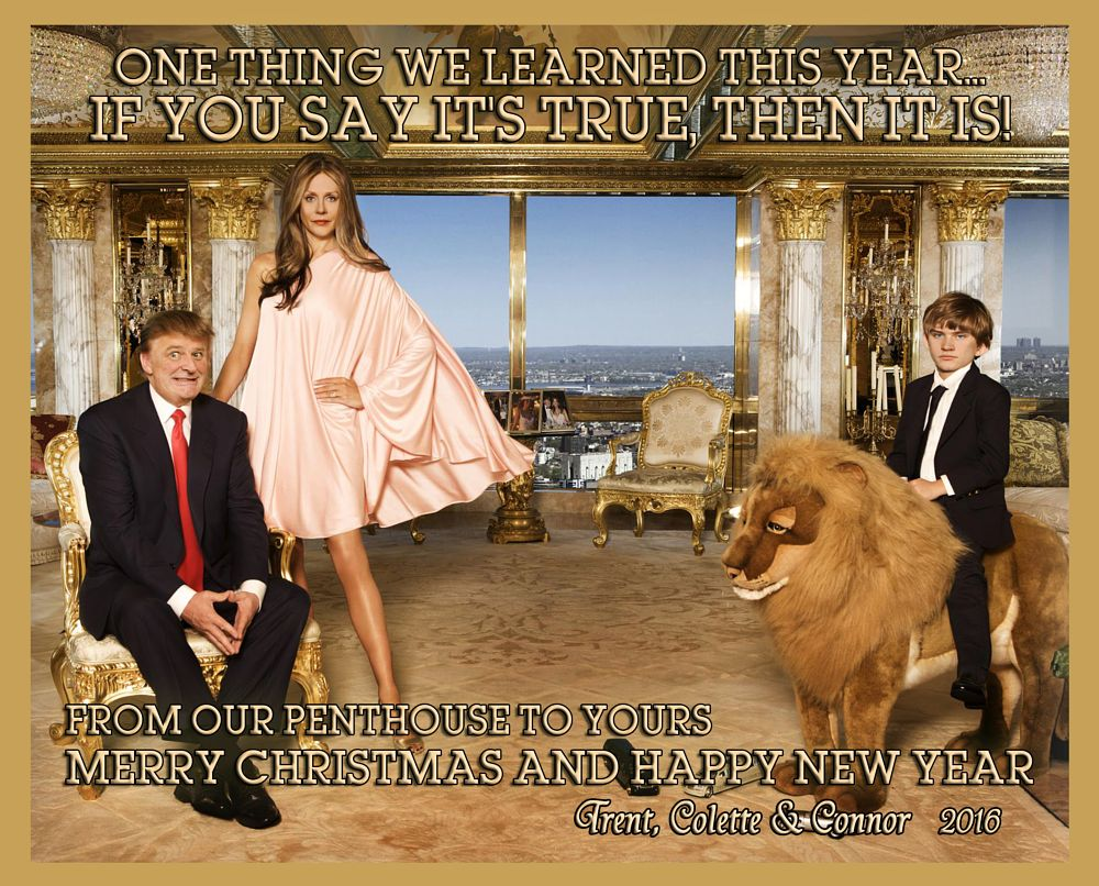 Photo in Portrait #trump #christmas card #election