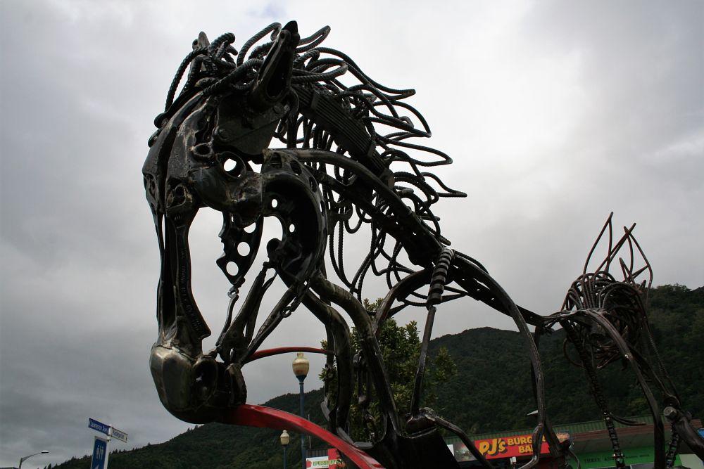 Photo in Fine Art #horse #art #pliers #tools #metal #parts #sculpture