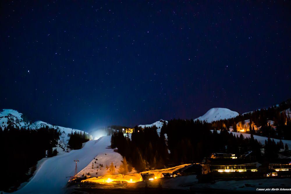 Photo in Landscape #alps #winter #snow #stars #cold