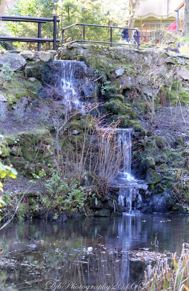 Photo in Random #waterfall #reflections #water #johnston gardens #aberdeen #scotland