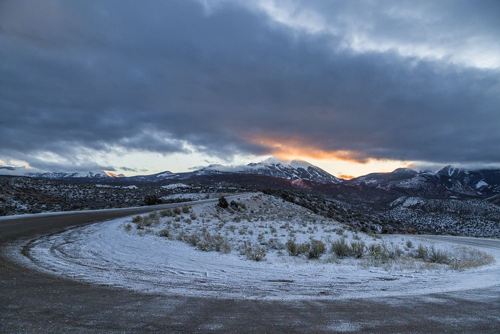 Photo in Landscape #mountain #sunrise #winter #mountains #peaks