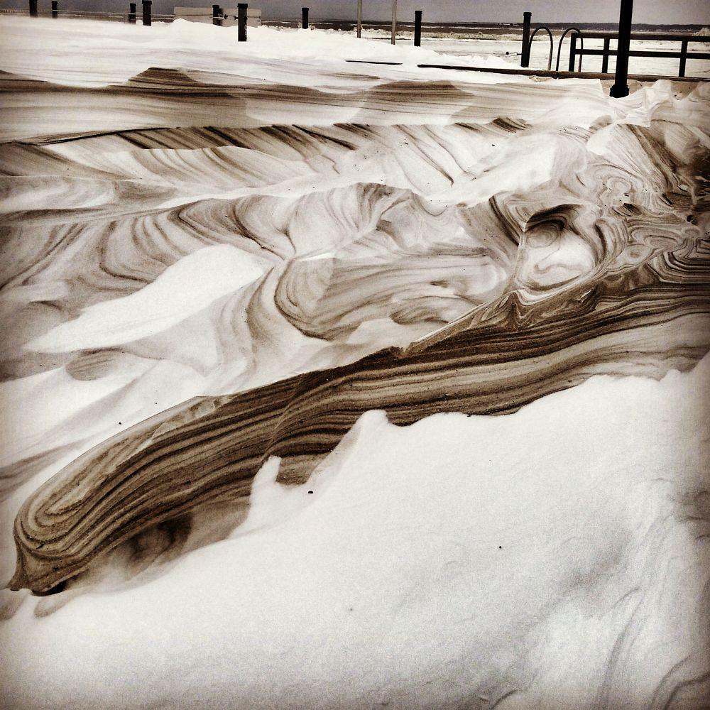 Photo in Still Life #sand #snow #ice