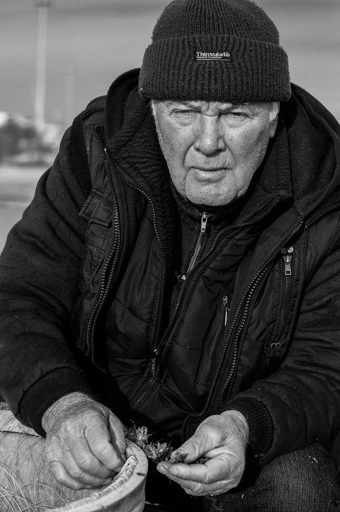 Photo in Portrait #portrait #street #fisherman #black #and #white #people