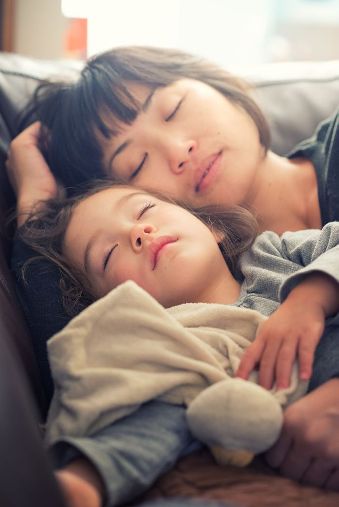 Photo in Family #family #daughter #mother #toddler #2-3 years #sleep #rest