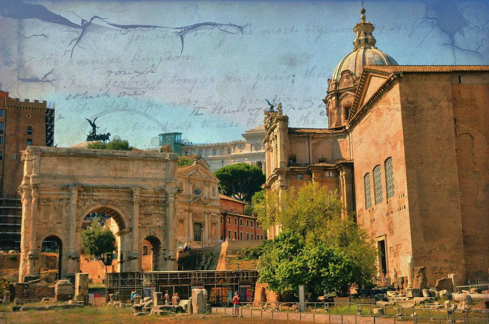 Photo in Vintage #ypa2013 #roma #italy #forum #vintage #ancient #hdr #old