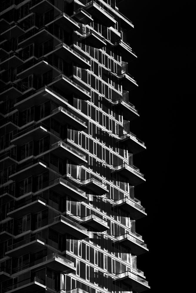 Photo in Urban #outdoor #building #architecture #b&w #nyc #manhattan #balcony #glass