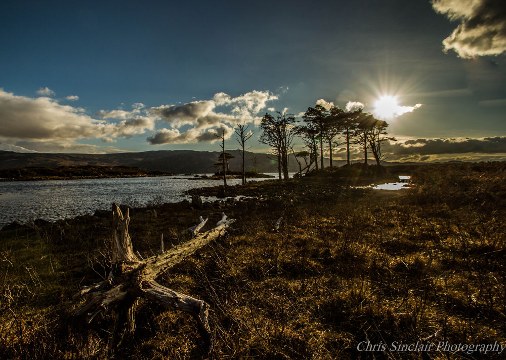 Photo in Landscape #landscape #sun #loch #leading line #nature #highlands #scotland