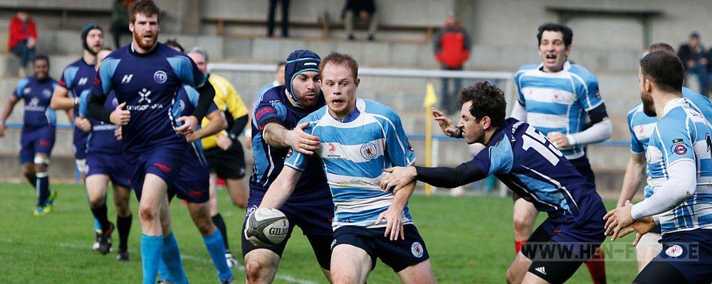 Photo in Sports #rugby #sport #männersport #spiel #darmstadt #haltegriff #sturmlauf