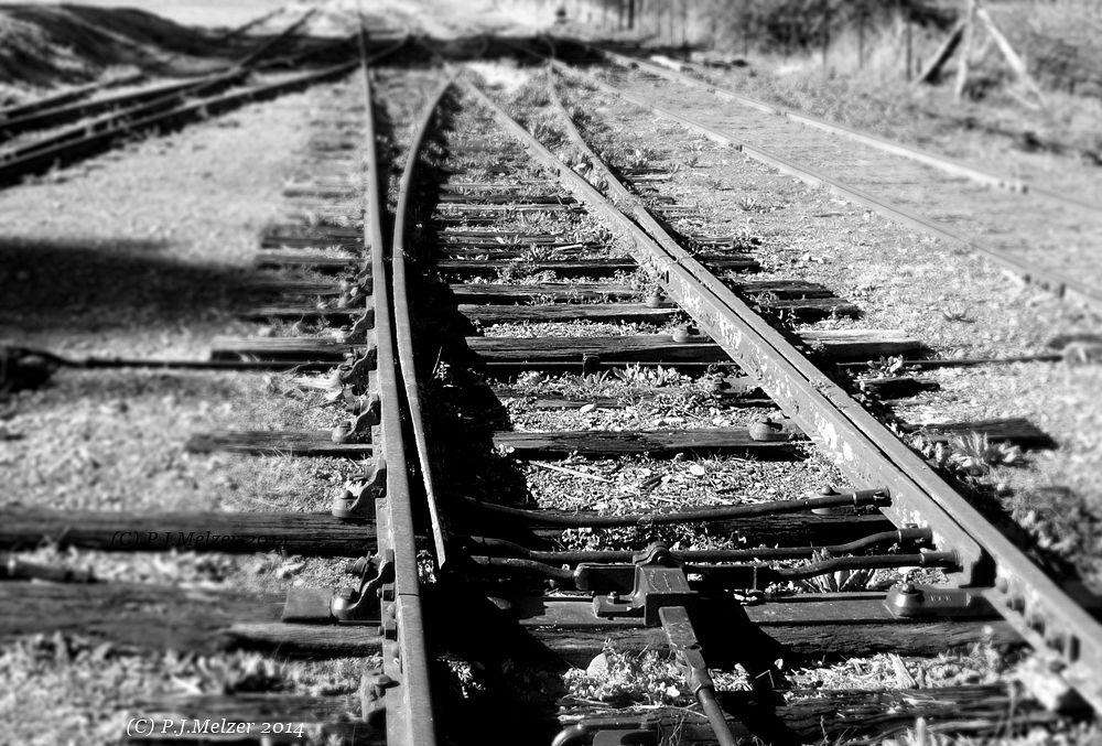 Photo in Black and White #trains #railway #tracks