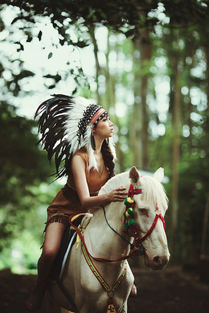 Photo in Portrait #women #indian #horse