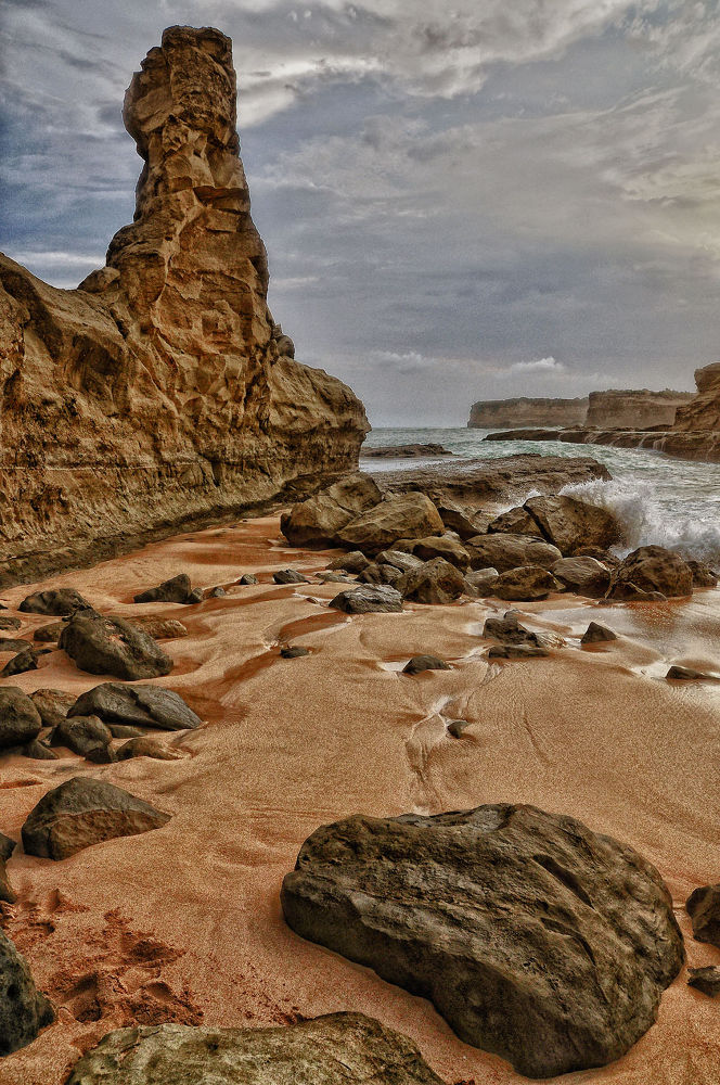 Photo in Landscape #rock #beach #klayar #east java #water #sand #sky