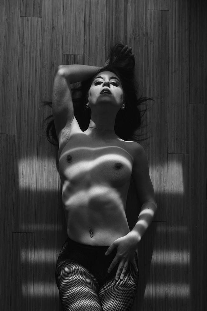 Photo in Nude #portrait #black #white #light #natural