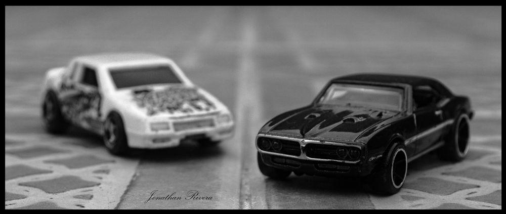 Photo in Black and White #black #cars #b&w #blackandwhite #toys