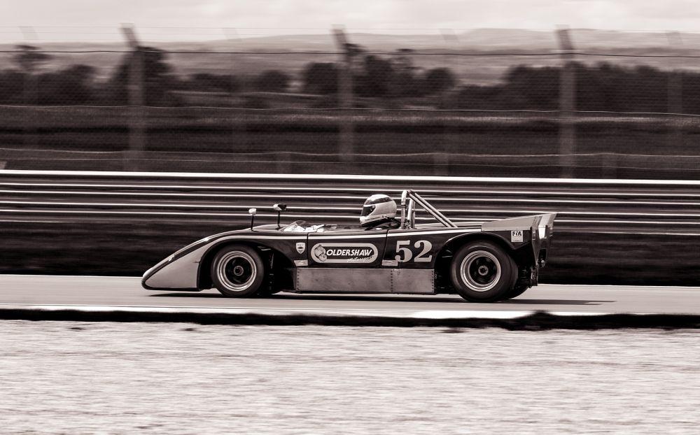 Photo in Sports #motorsport #monochrome #split tone #duotone #historic racing #car #racing