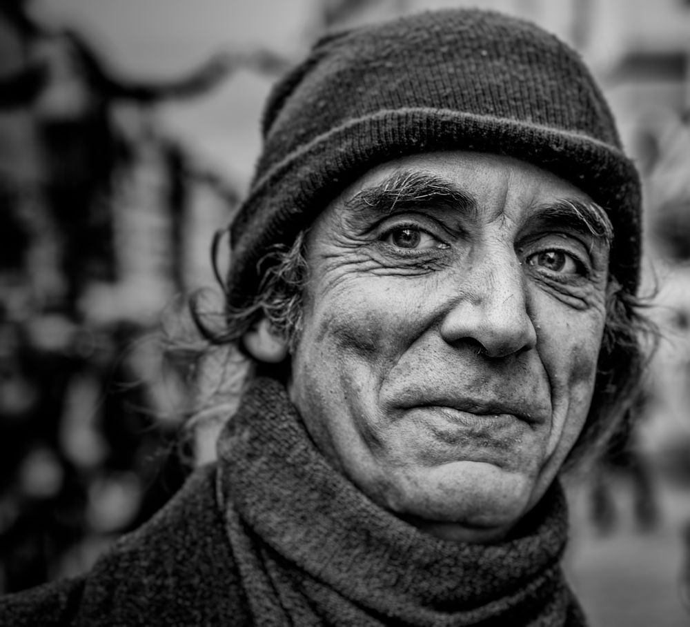 Photo in Street Photography #street portrait #stranger #black and white