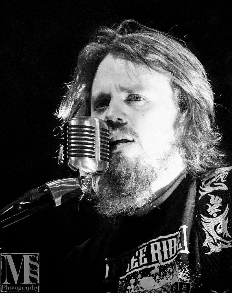 Photo in Black and White #band #white #black #portrait #black and white #concert #rockportaal #013 #tilburg #mss-photography.com #sonata arctica #henrik klingenberg