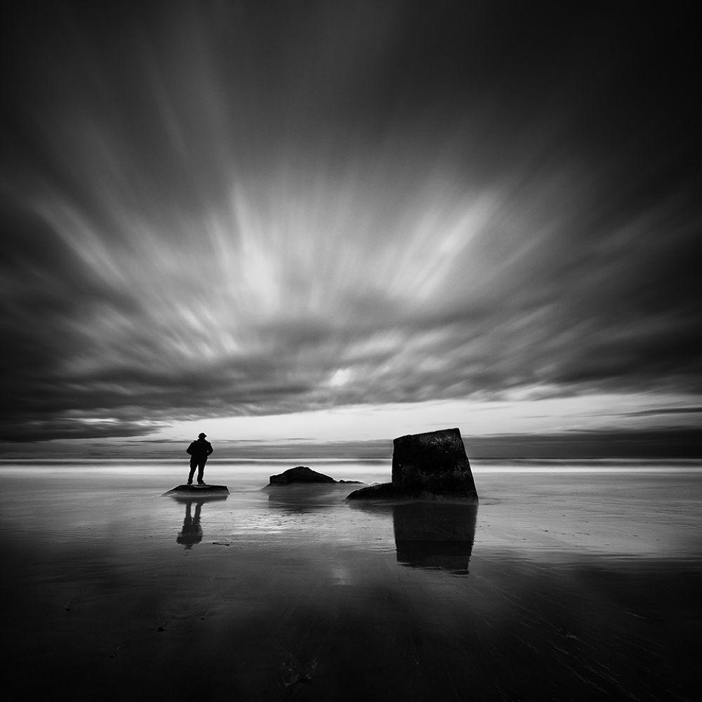 Photo in Fine Art #fine art #long esposure #solitude #beach #man