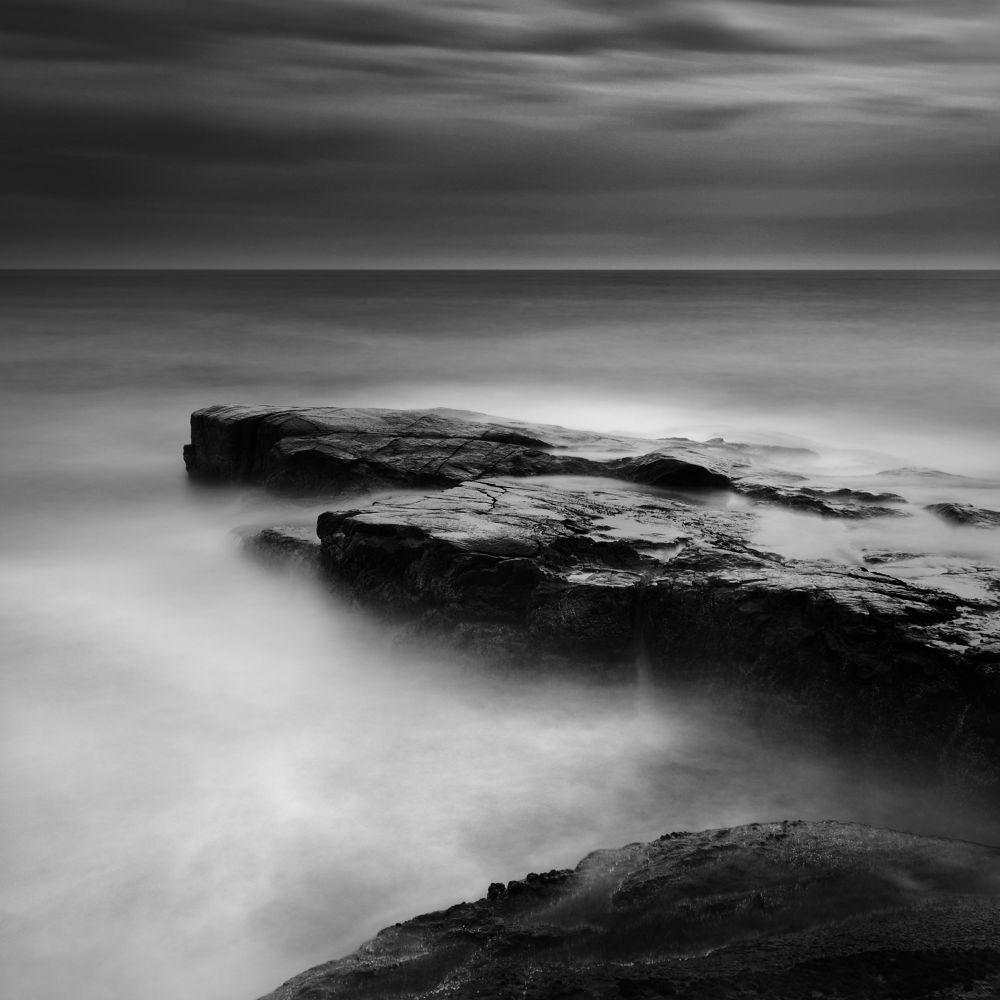 Photo in Fine Art #maine #acadia national park #schoodic point #usa #long exposure #monochrome #black and white #b&w #nikon dslr #60sec exposure